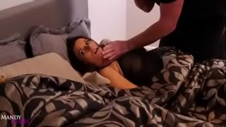 Mandy Flores fucked while husband sleeping next to her
