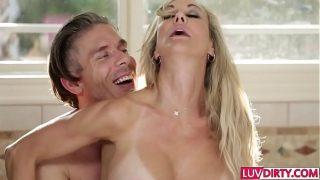 Two men sharing hot wife Brandi Love
