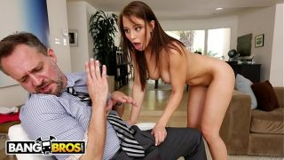 Young Step Daughter Aidra Fox Takes Control Of Her Step Father